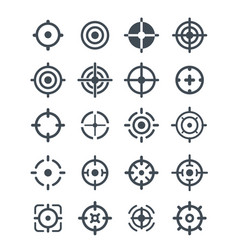 Black target icons on the white background vector