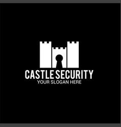 Castle security logo vector