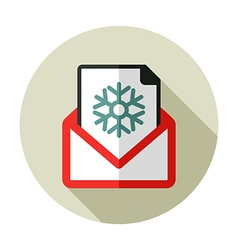 Christmas letter flat icon vector