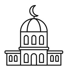 City mosque icon outline style vector