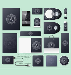 Classic branding Business corporate style in black vector image