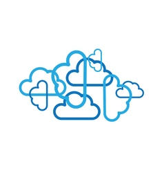 Clouds design vector
