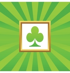 Clubs picture icon vector