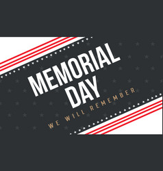 Collection of memorial day background vector