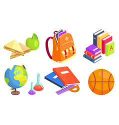 Collection of school-related objects vector
