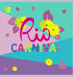 color background for rio carnival vector image