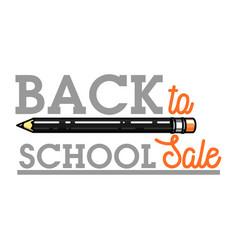 color vintage back to school sale emblem vector image