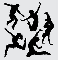Dance and sport silhouette vector