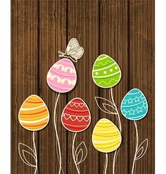dark wood eggs vector image