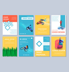 Different vertical banners set with copy space vector