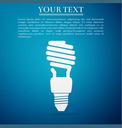 energy saving light bulb icon on blue background vector image