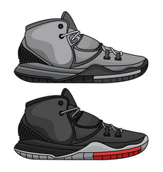 fashion basketball shoes vector image
