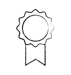 Figure school medal symbol to intelligent student vector