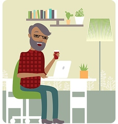 Freelancer working from home vector image