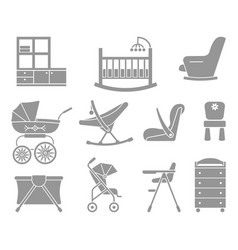 furniture and equipment for kids vector image