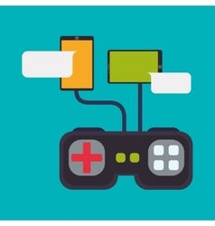 Gamepad control smartphones connection playing vector