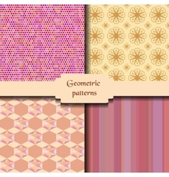Geometric abstract seamless patterns Delicate vector image