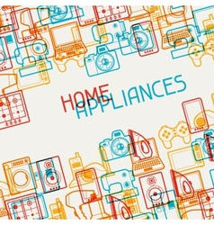 Home appliances and electronics background vector image