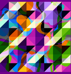 hounds-tooth pattern in abstract low poly vector image