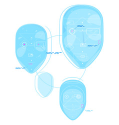 Identification technology concept vector