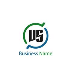 Initial letter vs logo template design vector