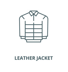 Leather jacket line icon linear concept vector