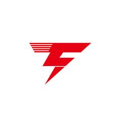 letter t geometric thunder symbol simple logo vector image