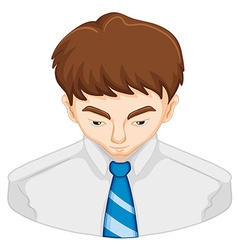 Man with brown hair vector