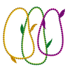 Mardi gras white background with colorful vector