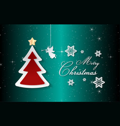 merry christmas and happy new yeartext is merry vector image