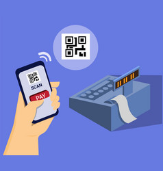 Mobile payment barcode isometric vector