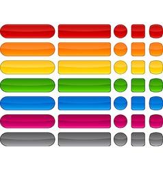 Modern blank buttons vector