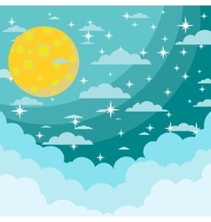 Moon on the night sky vector image
