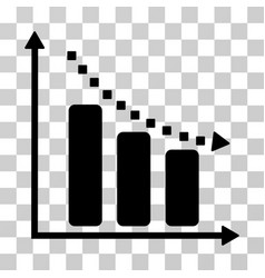 Negative trend icon vector