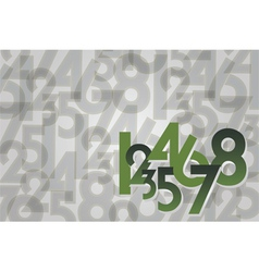 numbers random background vector image