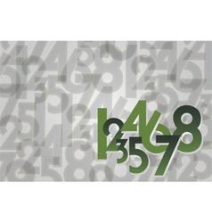 Numbers random background vector