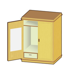 open wardrobe - vector image