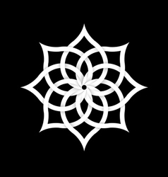 Paper floral element for design vector