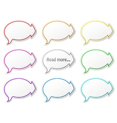 paper speech bubbles with arrows vector image