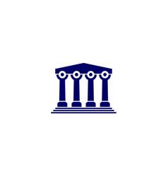 people law pillar logo icon vector image