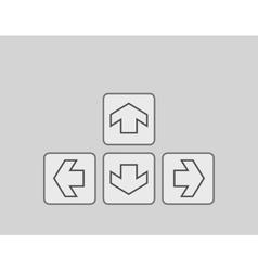 Plain square arrow icons vector