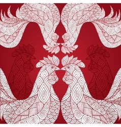 Portrait of a rooster vector image