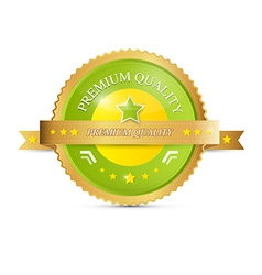 Premium Quality Green Gold Label vector