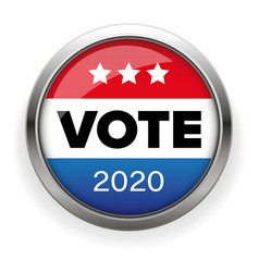 presidential election vote badge vector image