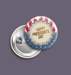 presidents day buttonbadgebanner isolatedretro vector image