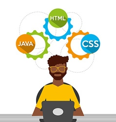 programing language design vector image
