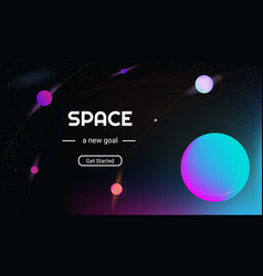 Realistic and futuristic space background vector