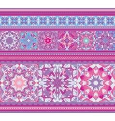 rich ethnic seamless pattern geometric design vector image
