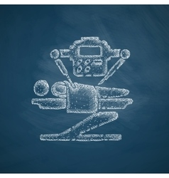 Robot surgeon icon vector