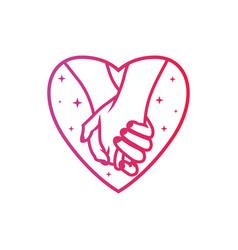 romantic couple modern logo vector image